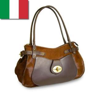 ショルダーバッグ レディース レディス 上質ポニーレザー×牛革 B5 イタリア製 PAOLO MASI バンビーノ・グランデ bag|carron