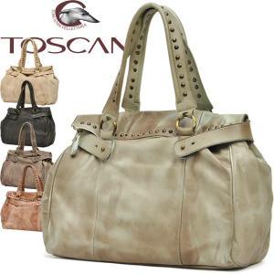 口折れトートバッグ ショルダーバッグ メンズ レディース 通勤 大容量 スタッズ 本革 ウォッシュレザー イタリアブランド TOSCANI A4 ティーナ brand Men's bag|carron