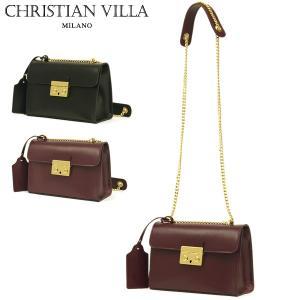 ミニショルダーバッグ レディース レディス チェーンバッグ おしゃれ 本革レザー イタリアブランド brand CHRISTIAN VILLA ジゼル bag|carron