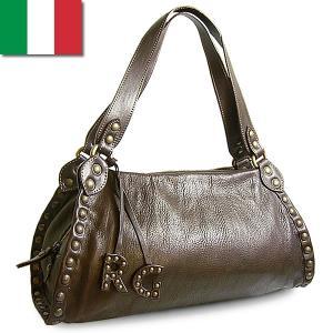 ショルダーバッグ レディース レディス 通勤 スタッズ ヴィンテージ風 本革レザー イタリア ROBERTA GANDOLFI クラシコ・ショルダー bag|carron