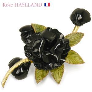 ナチュラルブローチ レディース フランスブランド スカーフ留め ピンブローチ ROSE HAYLLAND grappe orchids|carron