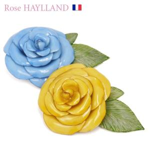 ナチュラルブローチ レディース フランスブランド スカーフ留め ピンブローチ ローズモチーフ ROSE HAYLLAND marbella|carron