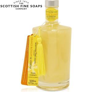 ボディソープ バスエッセンス オレンジブロッサム 液体石鹸 SCOTTISH FINE SOAPS 500ml|carron