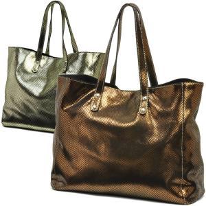 トートバッグ レディース レディス 通勤 大容量 軽量 シャイニー 艶 メタリックレザー イタリアブランド innue A4 ベリンダ brand bag carron