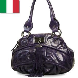 ショルダーバッグ レディース レディス 通勤 パープル フリンジ 艶レザー イタリアブランド innue バルバラ brand bag|carron
