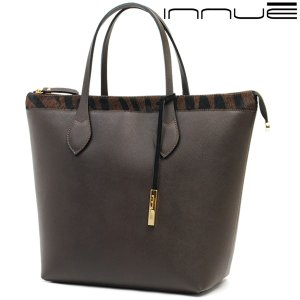トートバッグ レディース レディス 通勤 本革レザー ゼブラ柄 ハラコ イタリアブランド innue A4 ヴィオランテ brand bag|carron
