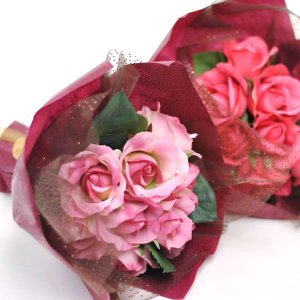 フラワーブーケ 造花 グランディアローズブーケ 全2色|carron