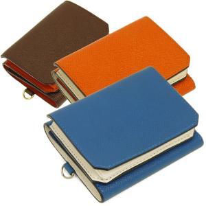 三つ折り財布 メンズ 革財布 レディース コンパクト チェルケスレザー SONNE|carron