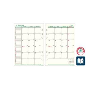 2018年度日付入りA5サイズリフィル 2018年月間-1 システム手帳 レイメイ藤井 ダ・ヴィンチ DAR1804 carrot
