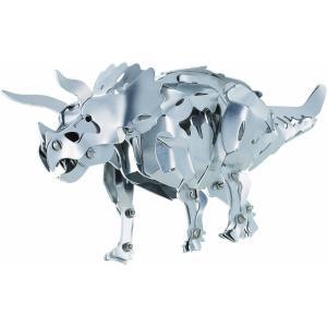 主要部品が全て金属製の恐竜が作れるキット。 足や顎などが動かせたり、ソフトアルミ板を使った部品を折り...