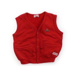 ブランド:miki HOUSE(ミキハウス) カテゴリー:ベスト サイズ:100サイズ 色:赤 状態...