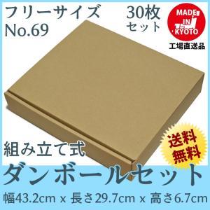 段ボール ダンボール 80サイズ フリーサイズ 30枚セット 梱包用ダンボール 組み立て式 茶色 送料無料 内寸424x282x60mm 厚さ3mm 日本製 004-069|carton-box