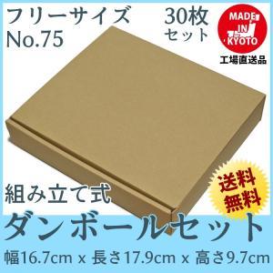 段ボール ダンボール 60サイズ フリーサイズ 30枚セット 梱包用ダンボール 組み立て式 茶色 送料無料 内寸159x164x92mm 厚さ3mm 日本製 004-075 carton-box