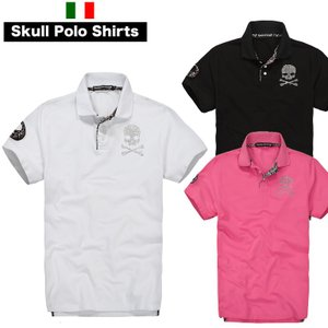 ピンク色は、7月27日に販売開始です。 ワッペンをあしらったスカルモチーフの ポロシャツです。  ハ...