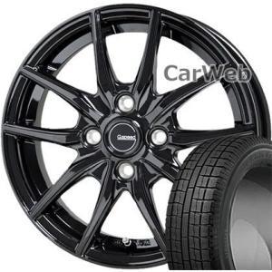 GARIT G5 185/70R14 88Q TOYO ■G.speed G02 HOT STUFF メタリックブラック 14×5.5 100/4H +38 スタッドレス&ホイールセット carweb2 01