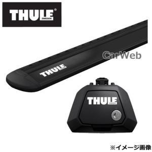 THULE/スーリー フット:7104+ウイングバー(ブラック):7114B ランドローバー ディス...
