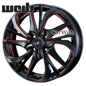 LEONIS TE (レオニス TE) ブラック/SCマシニング(レッド) BK/SC(RED) 16インチ 5.0J PCD:100 穴数:4 inset:45 Weds/ホイール1本単位|carweb2