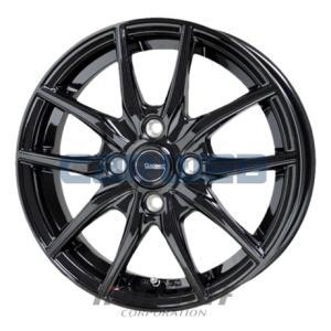 [ホイールのみ単品4本セット] HOT STUFF / G.speed G02 (MBK) 14インチ×5.5J PCD:100 穴数:4 インセット:38 carweb