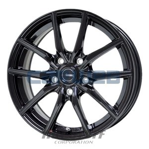 [ホイールのみ単品4本セット] HOT STUFF / G.speed G02 (MBK) 17インチ×7.0J PCD:114.3 穴数:5 インセット:38 carweb