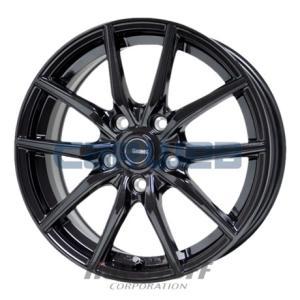 [ホイールのみ単品4本セット] HOT STUFF / G.speed G02 (MBK) 17インチ×7.0J PCD:114.3 穴数:5 インセット:55 carweb