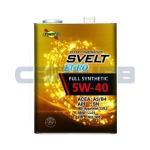 SUNOCO SVELT EURO エンジンオイル 5W-40 全合成油 A3/B4 SN (20L) carweb