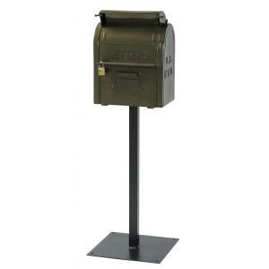 郵便ポスト レトロ感あふれるスタンドポスト  юUSメールボックス casa-i-eterior
