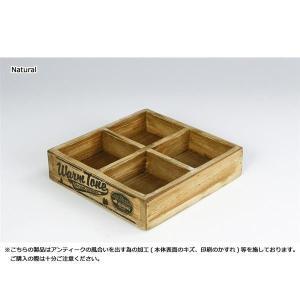 玄関まわりや机周りに置いて小物収納に、多肉植物にもピッタリ ダルトン  4 PARTITION WOODEN BOX