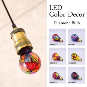 LED電球 カラーデコ フィラメントバルブ【3W E26 梨型】|casa-i-eterior