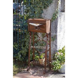 郵便ポスト スチールレザーポスト(スタンド型) 送料無料  casa-i-eterior