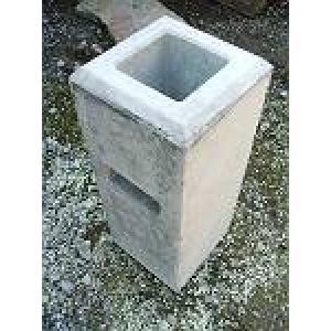 ウッドデッキ材5万円以上と同時購入の場合送料無料 フェンスブロック(大) 90角用 (24.0kg) 【送料別】 casa-i-eterior
