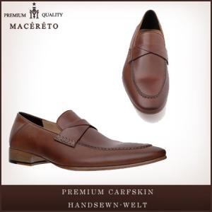 革靴 ローファー レッドブラウン ビジネスシューズ --- Macereto|casadepaz