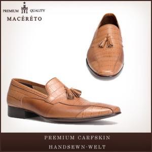 革靴 ローファー ライトブラウン ビジネスシューズ タッセル Macereto|casadepaz