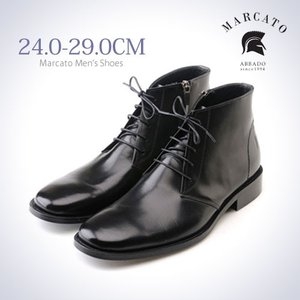 革靴 チャッカブーツ ブラック ビジネスシューズ サイドジップ Marcato|casadepaz