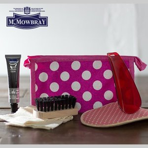 ピンク シューメイクアップセット スムース革 持ち運べる簡易お手入れセット 【 シューケア 革靴 手入れ 】 M.MOWBRAY モウブレイ|casadepaz