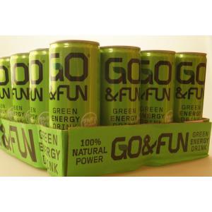 GO&FUN GREEN ENERGY DRINK 250ml×24本 ゴー&ファン グリーンエナジードリンク 8053626292726 cascaderocks