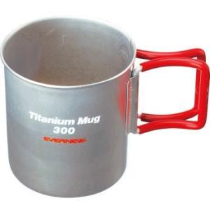 EVERNEW チタンマグカップ300FH RED 4934048892579|cascaderocks