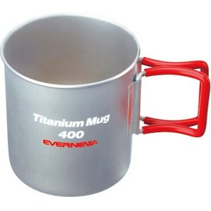 EVERNEW チタンマグカップ400FH RED 4934048892586|cascaderocks