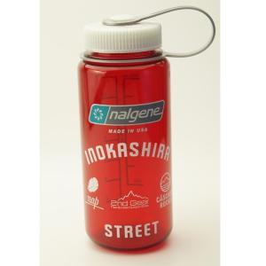 NALGENE 広口0.5L Tritan アウトドアレッド INOKASHIRA STREETオリジナルデザイン限定ボトル G1801186|cascaderocks