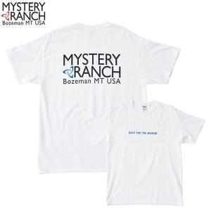 ミステリーランチ メンズ カラードスピナーTシャツ ホワイト/ブルー  Mサイズ 4549562269433|cascaderocks