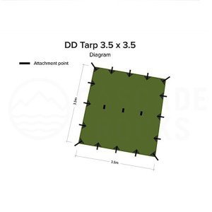 DD Tarp 3.5 x 3.5 オリーブグリーン DD Hammocks JAPAN正規品|cascaderocks
