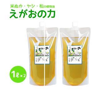 植物油由来成分からできた濃縮自然派洗剤「えがおの力(旧松の力)」1L 2個セット