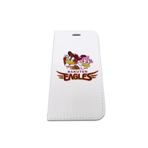 東北 楽天 ゴールデン イーグルス 手帳型 携帯ケース EAGLES ロゴ キャラクター ホワイト|case-ya