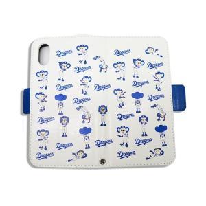 ドアラ 携帯カバー ロゴ×ドアラ全身 総柄 ホワイト iPhone6/7/8 iPhone6/7/8Plus iPhoneX/Xs iPhone Xs Max iPhone XR|case-ya|05