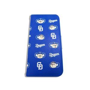 ドアラ 手帳型 携帯カバー ロゴ×ドアラ 総柄 ブルー iPhone6/7/8 iPhone6/7/...