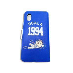 ドアラ 手帳型 携帯カバー ドアラ 寝そべり ブルー iPhone6/7/8 iPhone6/7/8Plus iPhoneX/Xs iPhone Xs Max iPhone XR|case-ya|03