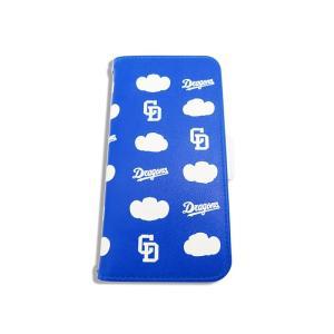 ドアラ 手帳型 携帯カバー ロゴ×ドアラ ベタ 総柄 ブルー iPhone6/7/8 iPhone6...