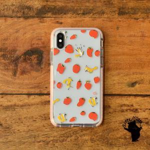 iPhone11 iPhone 11 Pro Max クリアケース TPU iPhoneケース クリア いちご イチゴ|casegarden