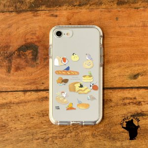 iPhone11 iPhone 11 Pro Max クリアケース TPU iPhoneケース クリア 北欧 パン 鳥|casegarden