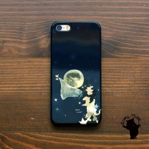 iPhone8 iphoneXR iPhoneXs iPhone6s iPhone7 ケース おしゃれ 耐衝撃 女性 女子 レディース ハード アニマル 星 月 星空 夜空 動物 月の収穫/Bitte Mitte|casegarden