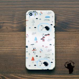 iPhone8 iphoneXR iPhoneXs iPhone6s iPhone7 ケース おしゃれ 耐衝撃 女性 女子 レディース ハード ハリネズミとキノコ/Bitte Mitte|casegarden